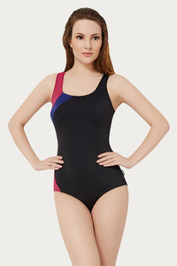 Amante Racerback Padded One Piece Swimsuit-Black