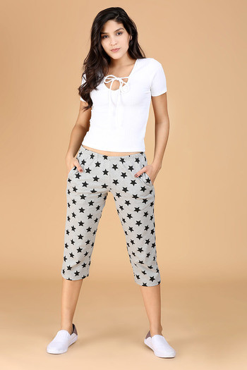 Buy Zivame Cotton CoZzzies Nightwear Star Black print - Grey and black at  Rs.487 online  844b4f5d4