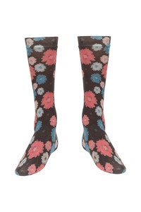 Zivame Floral Print Full Length Socks Brown