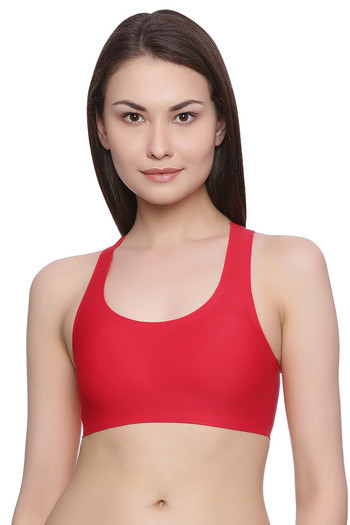 717f2879e1 Buy Rosaline Clean Finish Racerback Bralette with Removable Padding- Red at  Rs.375 online