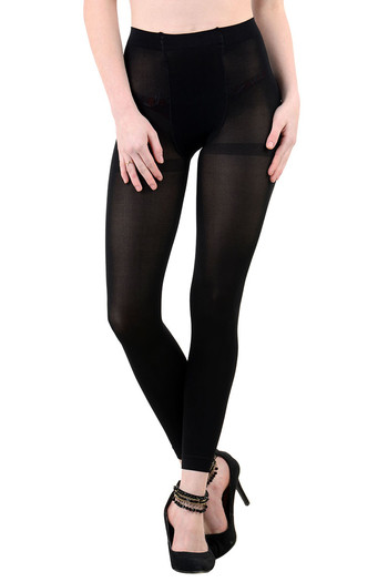 5784e031d Buy Zivame Flawless Opaque Ankle Length Tights- Black at Rs.417 online