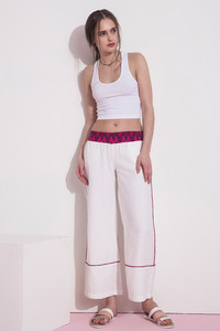 Zivame Flare Fit Causal Pants- White