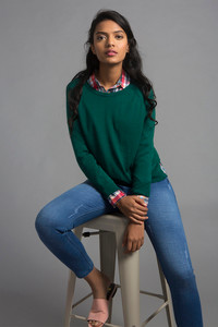 Zivame All Day Warm n Cozy Sweater- Green