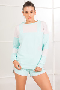 Zelocity New Studio Sweatshirt Aqua Blue