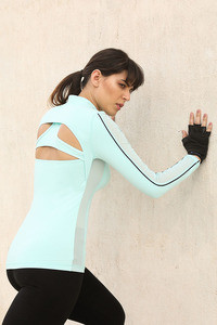 Zelocity Luxe Training Fitted Jacket-Aqua Blue
