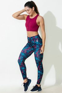 Zelocity Decode Collection Legging Blue N Print