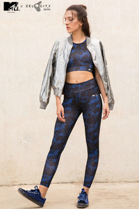 MTV x Zelocity Find Your Beat Skin Fit Legging Navy N Print