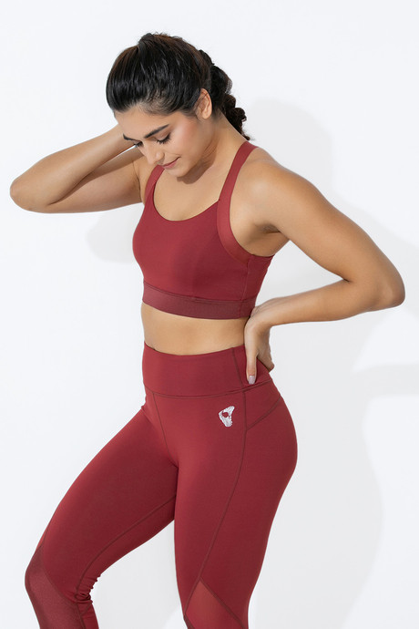 Zelocity Medium Impact Sports Bra With Removable Padding Red
