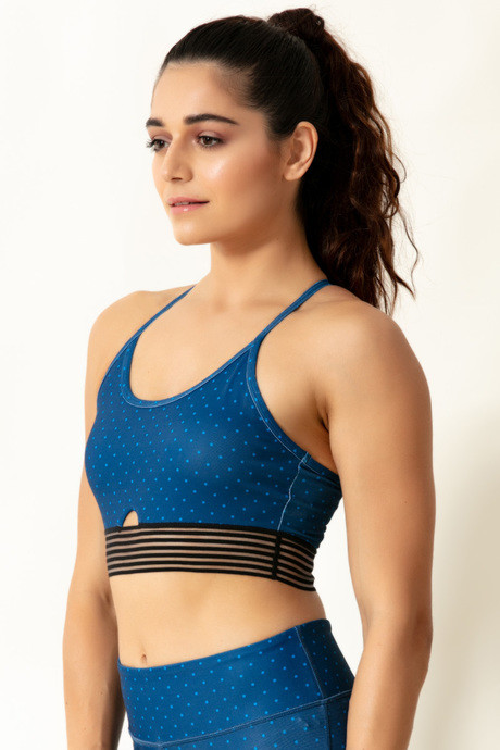Zelocity Low Impact Sports Bra With Removable Padding Blue