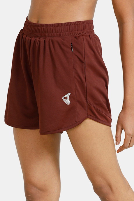 Zelocity Easy Movement Double Layer Shorts Brown