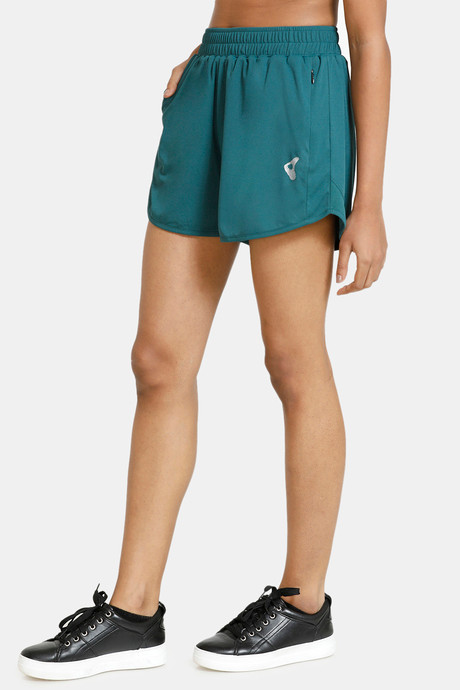 Zelocity Easy Movement Double Layer Shorts Green