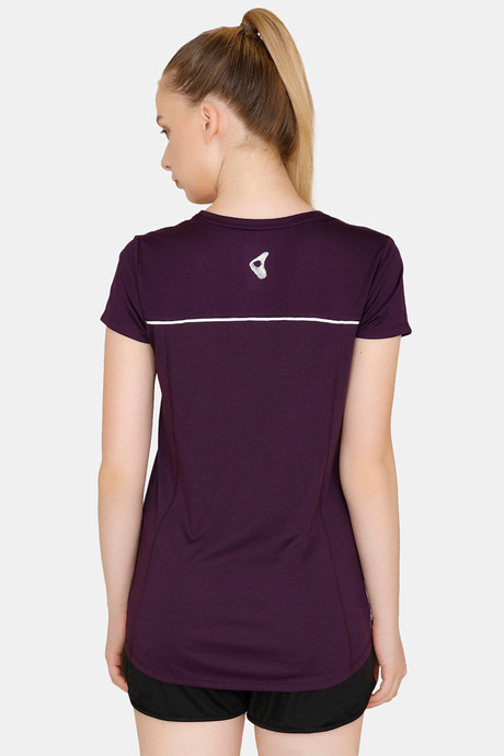 Zelocity Easy Movement T Shirt With Mesh Detailing Purple