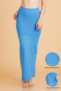 Zivame Mermaid Saree Shapewear With Flare- Blue