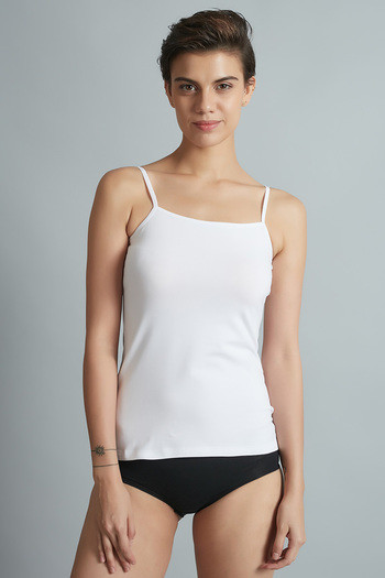 ec0d6be6f5 Buy Zivame Basic Square Neck Camisole- White at Rs.244 online ...
