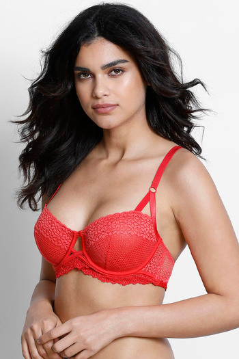 b0fbd70a27 Buy Zivame Moroccan Lace Double Layered Underwired Bra- Coral at Rs.907  online