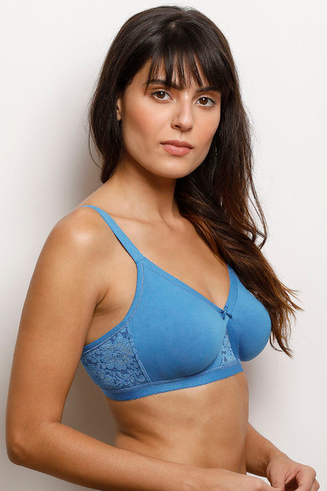 Zivame Wirefree Super Support Bra Blue