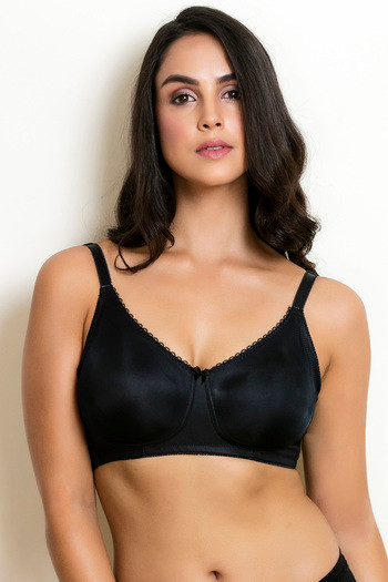 ea0fa813e2d Buy Zivame True Curv Double Layered Wirefree Bra- Black at Rs.498 online