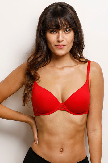 Buy Zivame Lightly Padded Underwired Bra- Bright Red at Rs.449 online  9d8c2dd74
