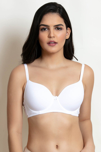 956bd192bee4d Buy Zivame Padded Wired T-Shirt Bra - White at Rs.387 online