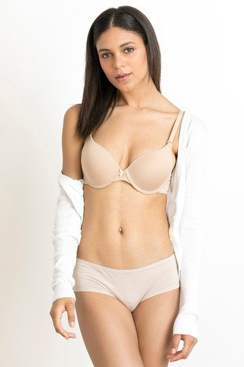 76a5c8e081d06 Buy Zivame Padded Moderate Lift Push Up Bra - Skin at Rs.484 online ...