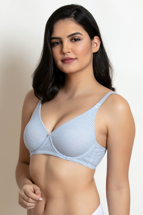 Zivame Double Layered Wirefree Bra Blue