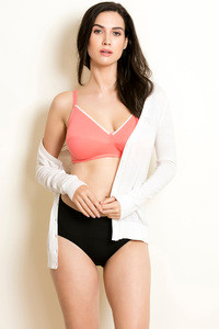 Zivame Double Layered Wirefree Bra Peach