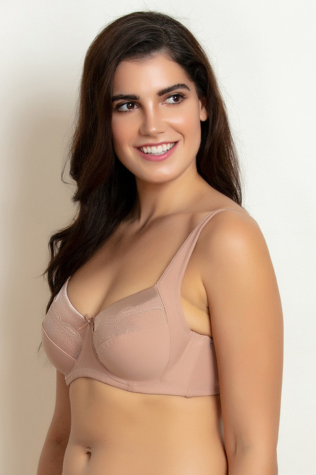Zivame Two Sectioned Super Support Bra Skin