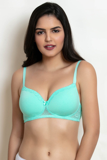 6c89dba6f546c Buy Zivame Padded Wirefree T-Shirt Bra - Green at Rs.447 online ...