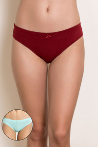 Zivame Low Rise Bikini Brief Pack of 2 Assorted