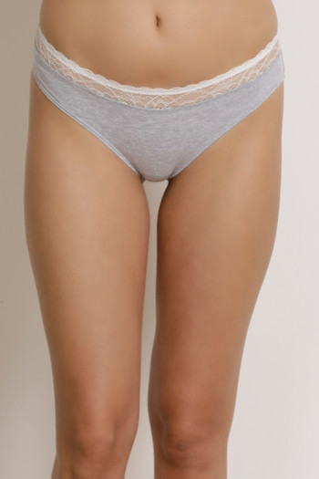 f62384c92a Buy Zivame Mid Rise Bikini Panty- Grey at Rs.349 online