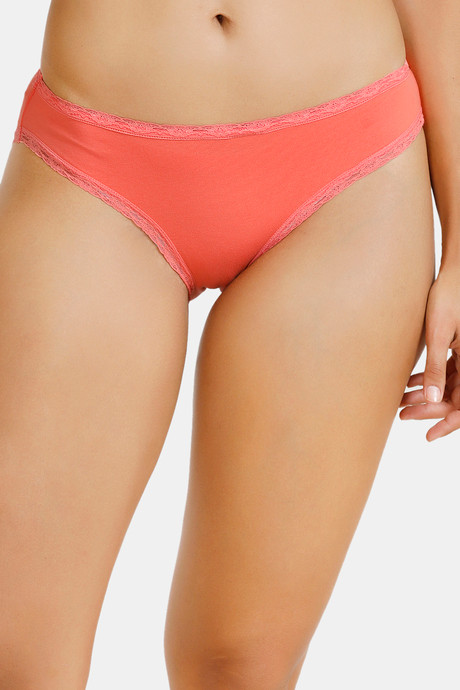 Zivame Anti Microbial Low Rise Bikini Panty Pack Of 3 Peach Violet Pacific