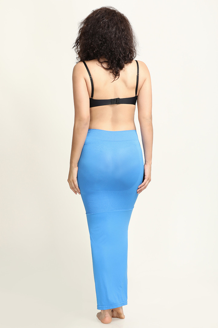 Zivame Mermaid Flared Saree Shapewear Blue
