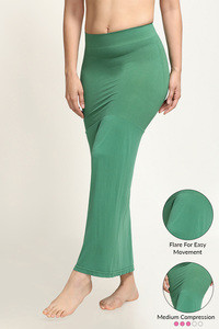 Zivame Mermaid Saree Shapewear With Flare- Green