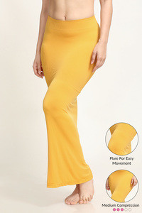 Zivame Mermaid Saree Shapewear With Flare- Mustard