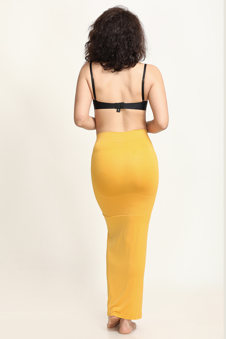 Zivame Mermaid Flared Saree Shapewear Mustard
