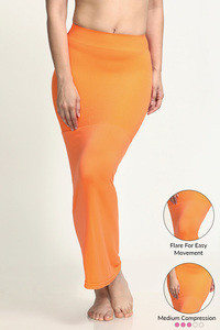 Zivame Mermaid Saree Shapewear With Flare- Orange