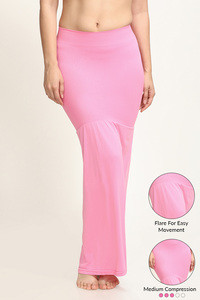 Zivame Mermaid Saree Shapewear With Flare- Pink