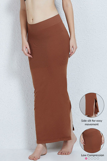 4444e7ef197e0 Buy Zivame Smoothening Low Control Mermaid Saree Shapewear™-Brown at Rs.899  online