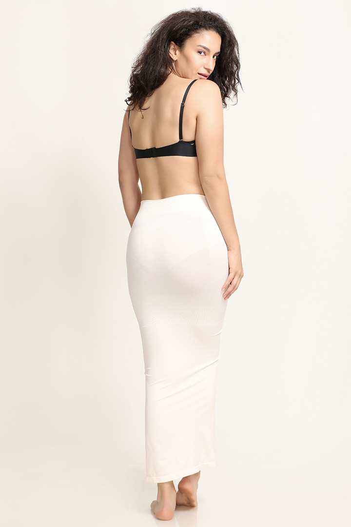 Zivame Mermaid Saree Shapewear White