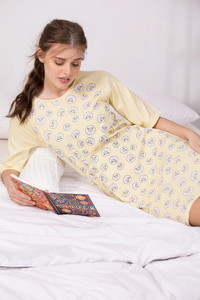 Zivame Crazy Sheep Sleep dress Yellow N Print