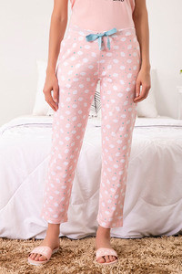 Zivame Three Musketeers Sleep Pyjama Pink N Print