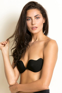 Zivame Padded Stick on Bra Black