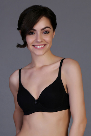 566d7714e1eed Buy Zivame Padded Wirefree Three-Fourth Coverage Bra- Black at Rs.250  online