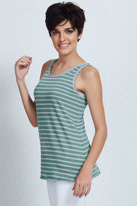 Zivame Elevated Raw Edge Essential Top-Green