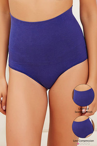 Zivame Everyday Shaping Cotton Midwaist Seamless Hipster Panty-Navy