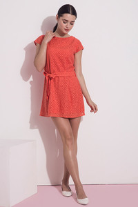 Zivame Coral Swoon-light Lace Midi Skater Dress