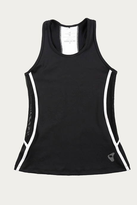 Zelocity Luxe Training Skin Fit Tank Top Black