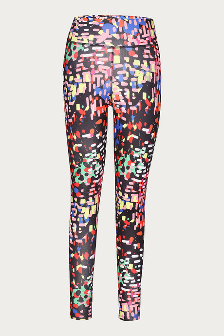 Zelocity Easy Movement Groovy Dancing Legging Black N Print