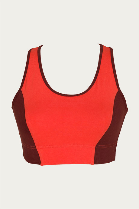 Zelocity Decode Collection Non Padded Sports Bra Maroon
