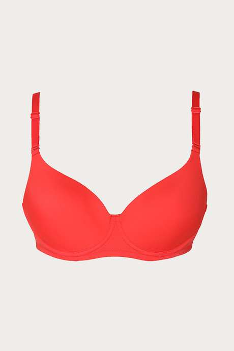 Zivame Padded Backless T Shirt Bra Coral